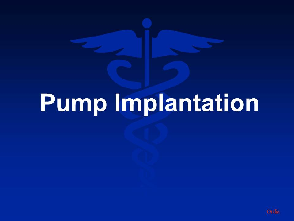 pump implantation